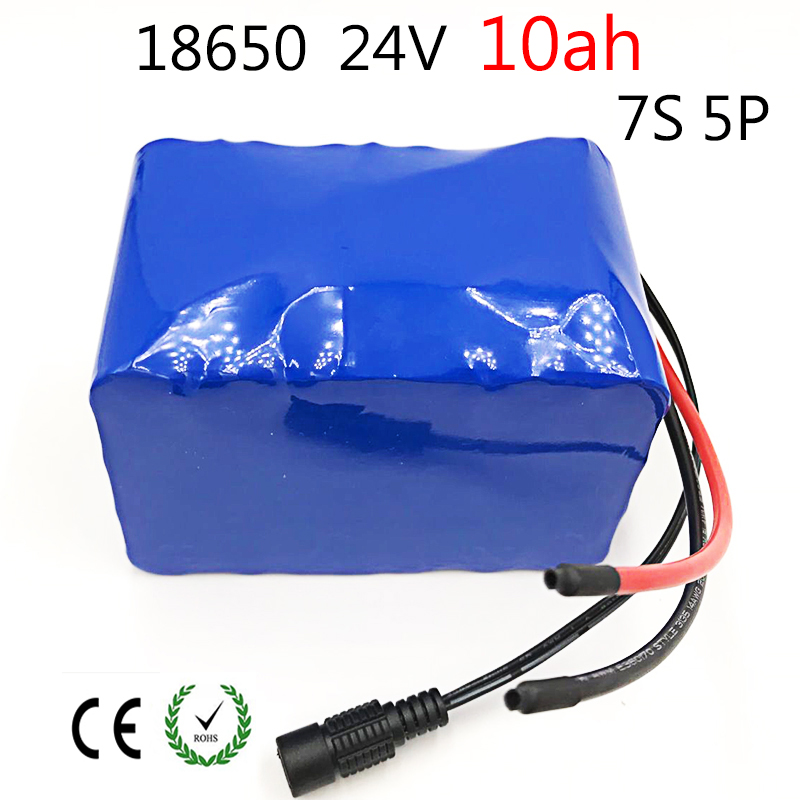 Laudation Electric bicycle battery 24V <font><b>10ah</b></font> 15A BMS 250W <font><b>29.4V</b></font> 10000mAh 18650 battery pack for motor chair set Electric Power image