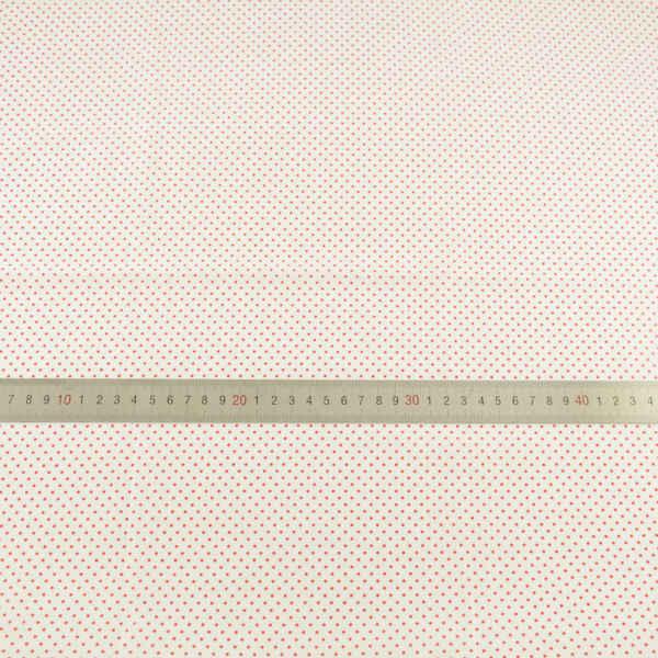 Белая хлопковая ткань маленькая красная точка дизайн Лоскутная Ткань Жир четверть швейная ткань куклы Ткань Тильда CM Telas ткань Tecido