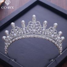 Роскошные диадемы и короны cc с фианитами жемчугом принцесса