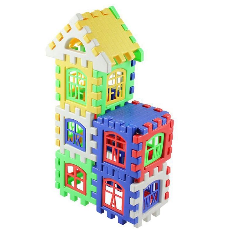 24pcs Baby House Building Blocks Construction Toy Kids ...