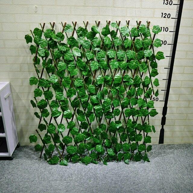 Simulation de mur végétal avec feuilles Plié clôture avec feuilles ...