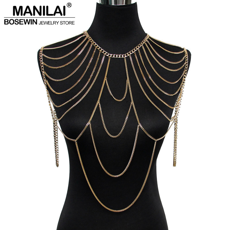 Aliexpress.com : Buy MANILAI Multilayer Chain Necklaces ...