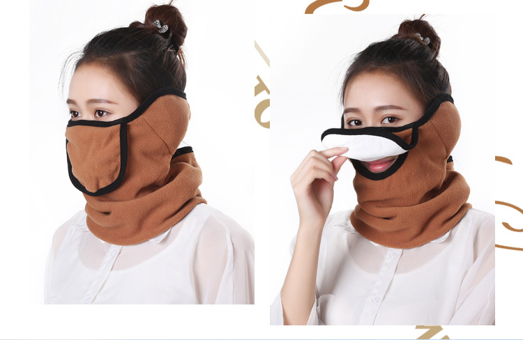 Winter Three-in-one Mask Men And Women Cotton Ear Protection Cycling Warm Cold And Windproof Mask