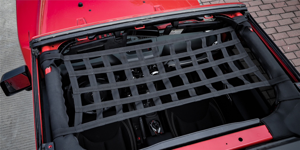 Heavy Duty Cargo Net Car Top Roof Hammock Bed Rest Storage Network Cover For Jeep Wrangler Jk 2007-2018 Exterior Accessories 1pc Car Covers Exterior Accessories