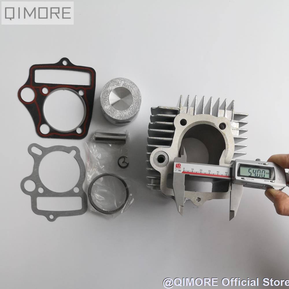Kit de gran cilindro de aluminio para bicicleta de cross, 54mm, 125cc, C100, C110, JH110, DY100, DY110, ZS110, 152FMH (Mark remains, 107cm3)