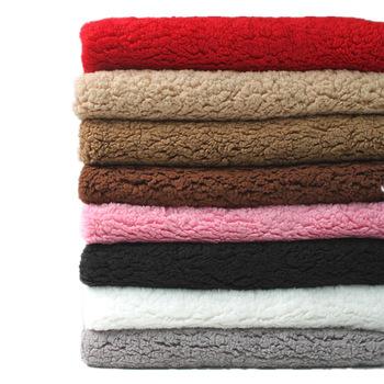 Super-soft Sherpa Fleece Fabric Polyester Lamb Cashmere Plush Fabric Faux Wool Lining Cloth Dolls Stuffed toys Warm Textile