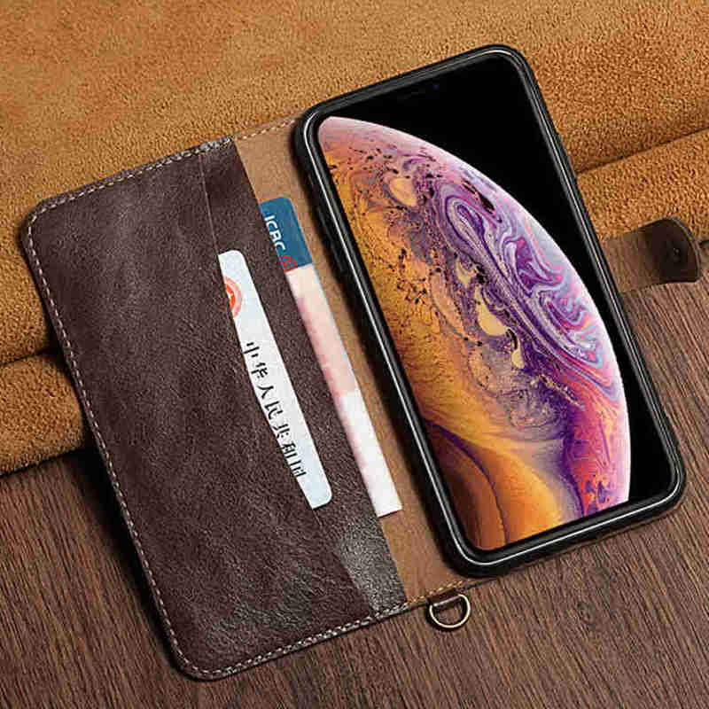 Genuine Leather Case For Apple Iphone 8 Case Protector Cover Ultra Soft Wallet Pocket Coque For Iphone 8 Plus Case Fundas in Wallet Cases from Cellphones Telecommunications