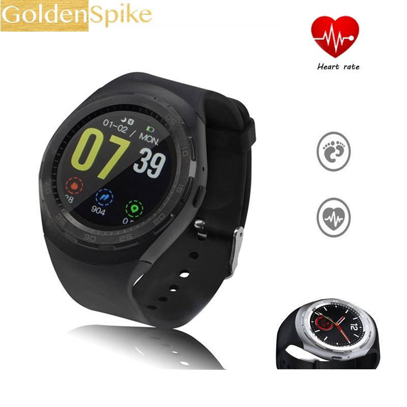 42e35f5e60c Smart Watch Y2 Bluethooth 4.0 Heart Rate Health Fitness Tracker Smartwatch  For Samsung Apple iPhone HTC Xiaomi Android Phone