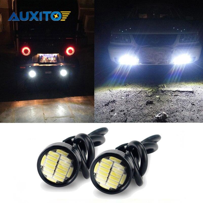 Auxito 2x LED Eagle Eye Light 9W 12V 24V 18MM 23MM Auto Waterproof Lamp Car Fog DRL Daytime Running Reverse Parking Signal Bulb