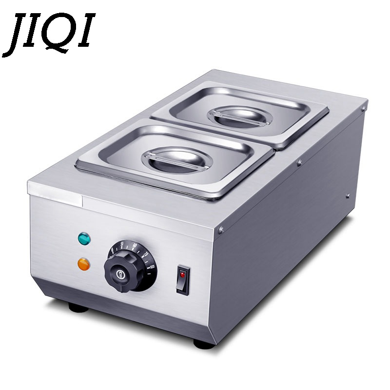 JIQI Chocolate Melting Pots Commercial Double Hot Chocolate Dipping Melting Machine Cylinder Electric Warmer Melter 2 Lattices