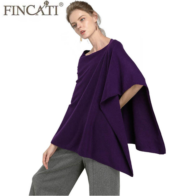 b552f5849 100% Goat Cashmere Scarves Poncho 2018 Cardigans Christmas Gift Lady Soft  Warm Fluffy Outwear Clothes