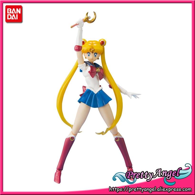 PrettyAngel - Genuine Bandai S.H.Figuarts Pretty Guardian Sailor Moon 20th PVC Sailor Moon Action Figure free shipping 8 pretty guardian sailor moon anime uranus tenoh haruka