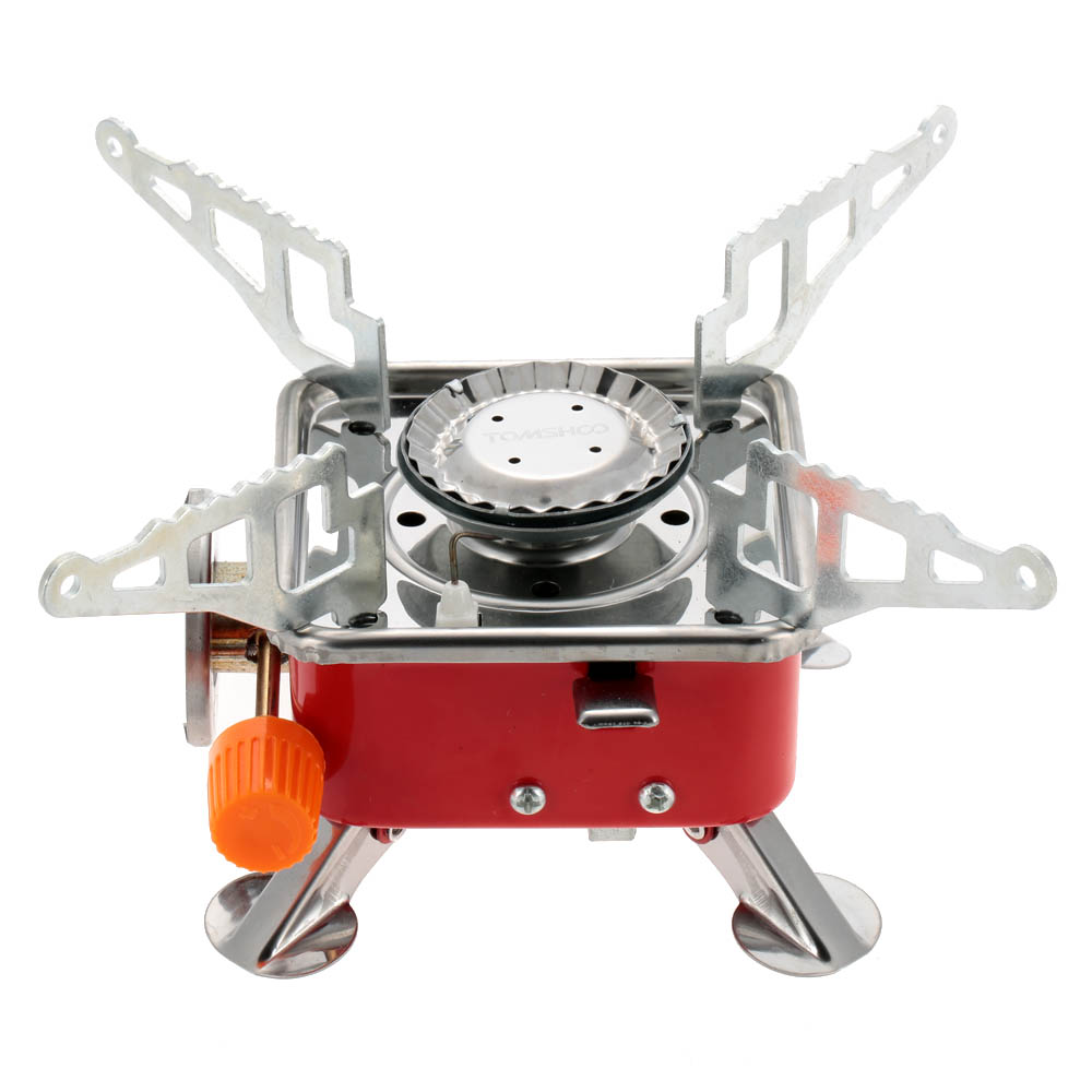 2800w Stainless Steel Gas Stove Tomshoo Portable Collapsible Outdoor Backpacking Butane Gas Camping Picnic Stove Burners