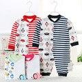 Одежда для новорожденных Комбинезон Весна Осень Новорожденного Ребенка комбинезон 100% Хлопок Ткань Комбинезон С Длинным Рукавом, Детская Одежда Детская 8082