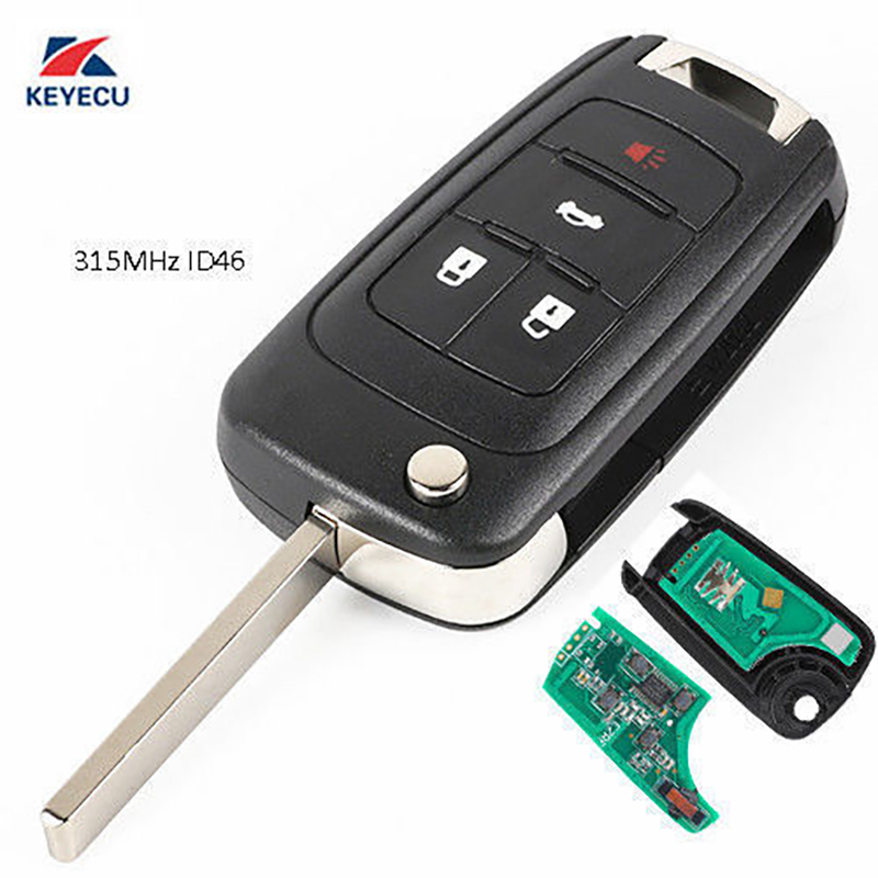 2x Remote Key Keyless Entry Fob Flip Transmitter For Buick GMC Chevy OHT01060512