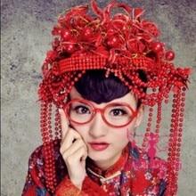 Ancient Chinese Wedding Tiaras Bridal Hanfu Costume Accessory Headwear Hair Jewelry