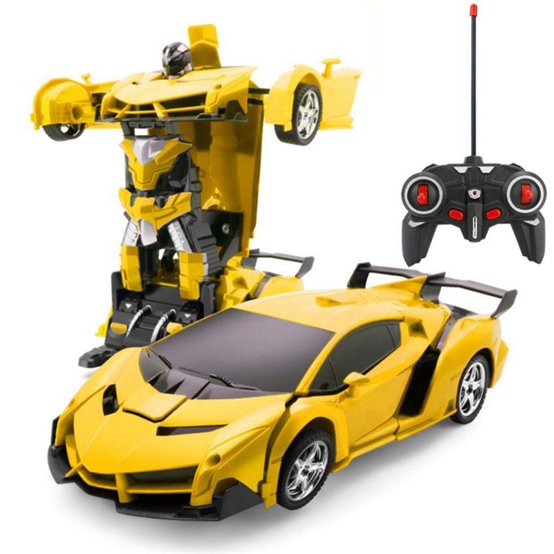 2 в 1 Электрический RC автомобиль трансформации роботы дети мальчики игрушки на открытом воздухе дистанционного Управление спортивные деформации автомобиля модели-роботы игрушка 3