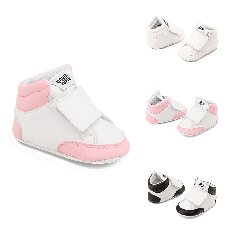 Spring Newborn Baby Boy Girl Shoes Classic PU Leather Casual Sneakers Soft bottom Non-Slip Toddler Shoes