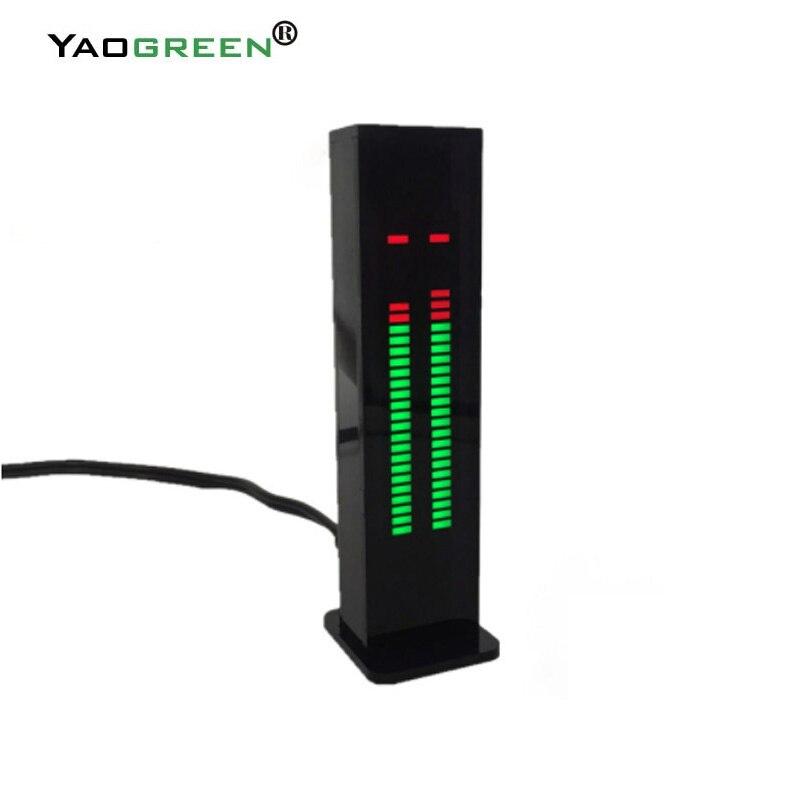Nuovo AS30 HA PORTATO LA Musica Dello Spettro Audio indicatore di Bordo Amplificatore HiFi SCM Stereo indicatore di Livello VU Meter Velocità Regolabile in Caso