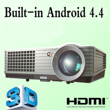 2015 3800lumens Android 4.4 HD LED Wifi Smart Projector 160W LED Lamp 3D home theater LCD Video Proyector Projektor TV Beamer