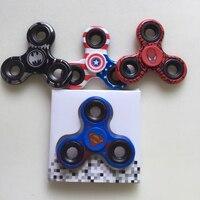 12pcs 3Set Avengers Spinner Super Hero Batman Captain America Fidget Spinner Spiderman Hand Spinner Fidget Cube