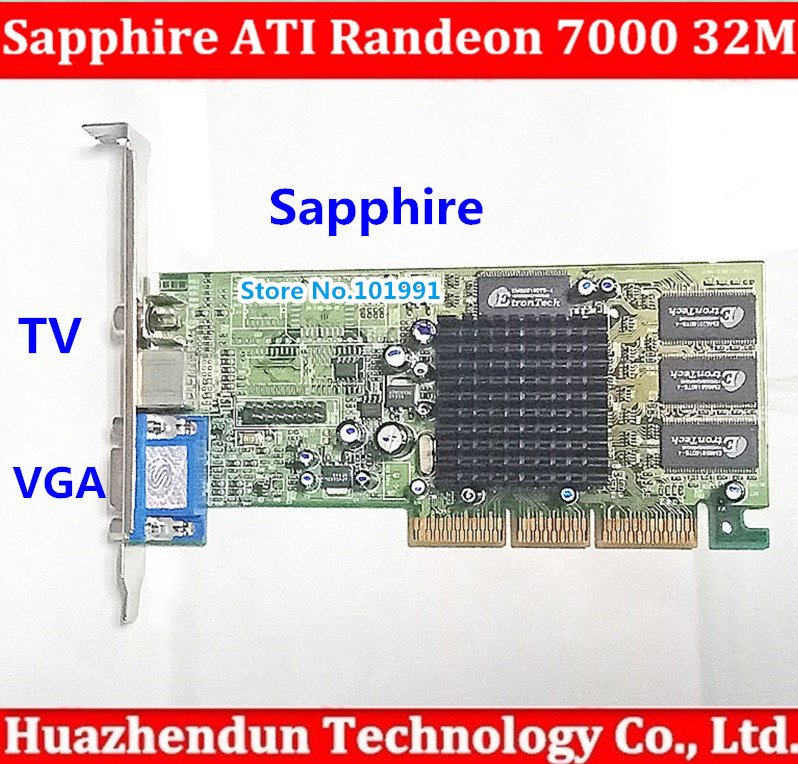Hot sale Sapphire new ATI Randeon 7000 32M DDR VGA/TVO/AV AGP video card graphic cardHot sale Sapphire new ATI Randeon 7000 32M DDR VGA/TVO/AV AGP video card graphic card