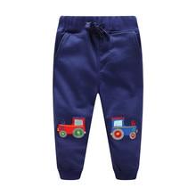 Kids Boys Pants Cotton Trousers Clothes Character Cartoon Cars Fox Print Drawstring Sweatpants