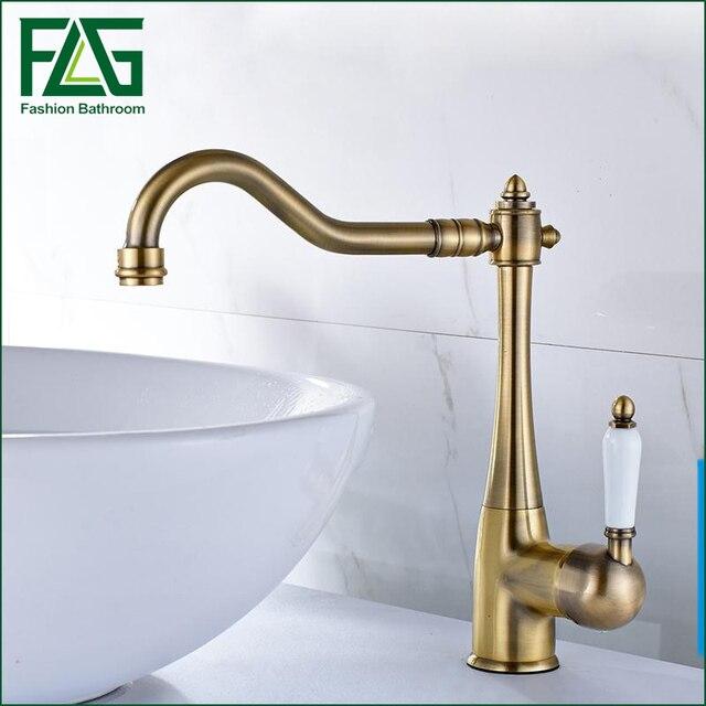 European Bronze Kitchen Faucets, Brass Tap Cold & Hot Water ...