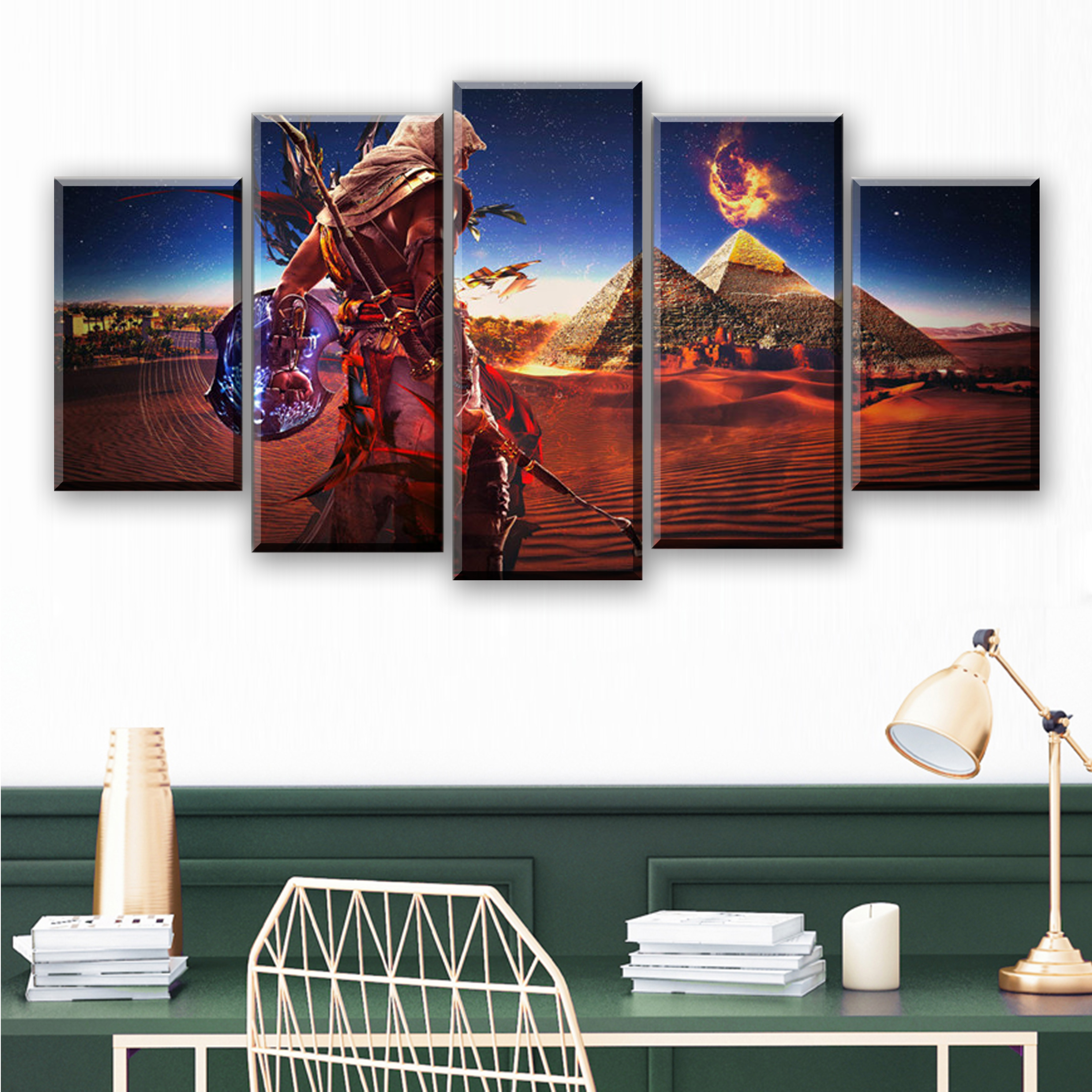 5 Pieces Movie Poster Canvas Wall Art Assassins Creed Painting Abstract Art Picture Game Posters Prints Quadros Decoration image
