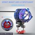 Spirit Beast мотоцикл L5 Светодиодный прожектор вспомогательная Фара 5-60 в Dc 10 Вт Объектив Универсальный для почти всех моделей расширение