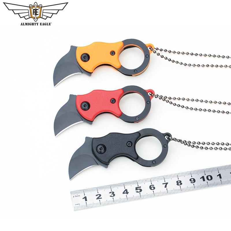 Складной мини-нож ALMIGHTY EAGLE EDC, портативный нож, острый резак, ожерелье, для активного отдыха, кемпинга, пешего туризма