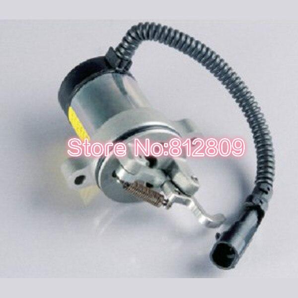 Fuel Shutoff Solenoid Valve 0410 3812 3924450 2001es 12 fuel shutdown solenoid valve for cummins hitachi