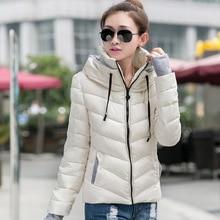 winter warm slim woman parkas solid pockets cute zipper hooded female long sleeve parkas цены онлайн