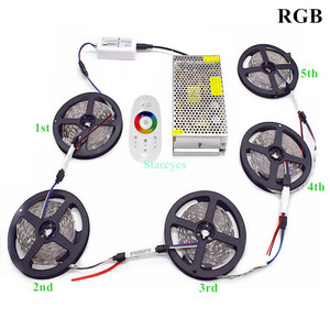 Image 3 - 1 סט SMD 5050 RGB RGBW 300LED 12V IP20 IP65 Waterproof LED רצועת 5m 10m 15m 20m 25m 30m גמיש רצועת קלטת חבל סרטי ערכת
