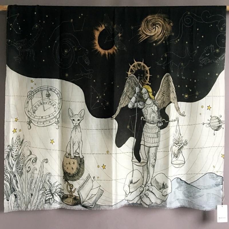 Cashmere   Scarf   Women Constellation Luxury Brand Designer Pashmina   Scarves   Bandanas Shawls   Wraps   110*200cm