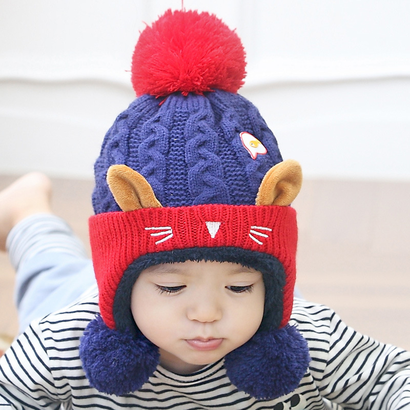 Girl's Accessories Cute Baby Winter Hat Warm Child Beanie Cap Animal Cat Ear Kids Crochet Knitted Hat For Children Boys Girls Hot New Orders Are Welcome.