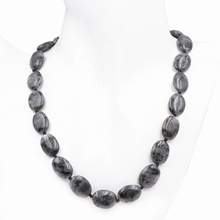 Charms Natural Labradorite Beads Necklace Pendant Braid Oval