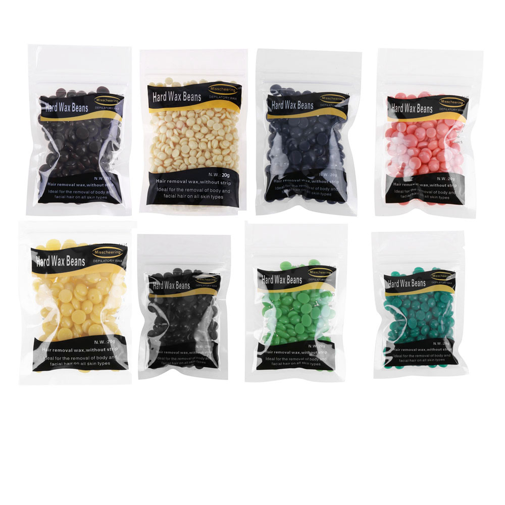 20g/bag Depilatory Wax Bean Hot Film Hard Wax Pellet Waxing Bean Women Body Face Bikini No Strip Hair Removal Bean