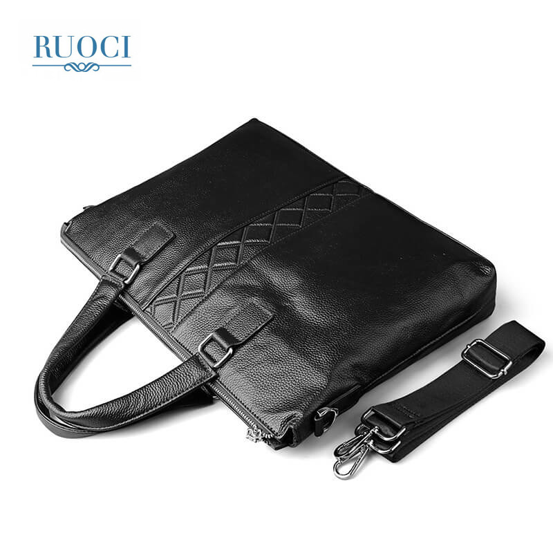 RUOCI Messenger Bag Men Shoulder Bag Casual Male Briefcases Laptop Crossbody bags for Men Handbags Men Genuine Leather Tote Bag lacus jerry genuine cowhide leather men bag crossbody bags men s travel shoulder messenger bag tote laptop briefcases handbags