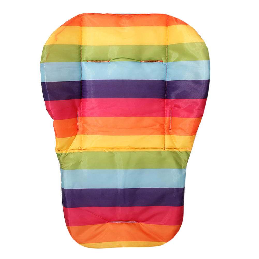 Seat Pads For Baby Child Stroller Feeding Rainbow Cart Mats Chairs Accessories