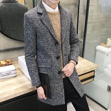 Wool Long Coat Mens EL01