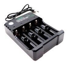 Novo 3.7 v 18650 bateria Li-ion Carregador USB de carregamento independente cigarro eletrônico portátil 18350 16340 14500 carregador de bateria