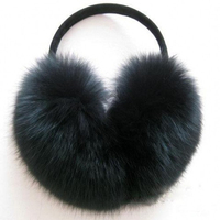Winter Faux Fox Fur Warm Earmuff Fashion Cute Plush Folding Women Male Korean Big Hair Fur