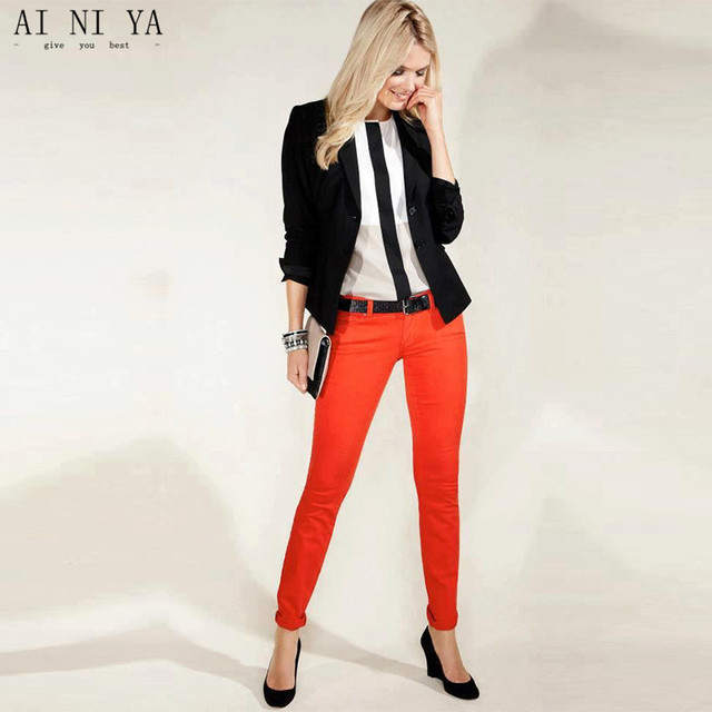 Black Jacket Red Pants Womens Business Suits Female Office Uniform