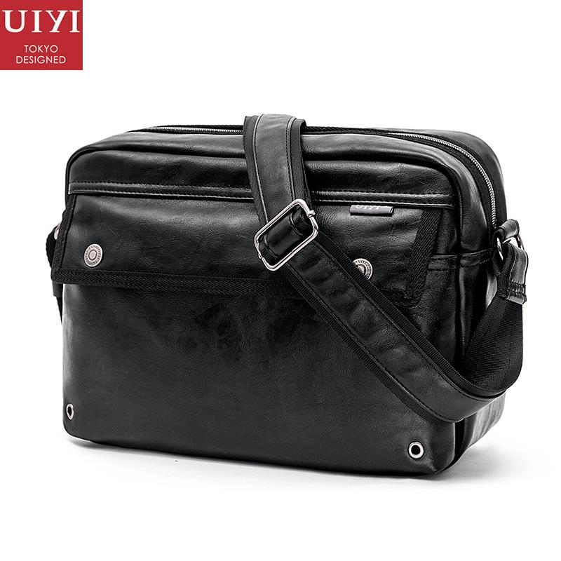 UIYI Original Design Men Handbag PU Leather Satchel Messenger Crossbody Bag Small Casual Business Shoulder Sling Bags 160108 rowling original design new men s handbag male double screw lock design trend package shoulder bag messenger crossbody bag mb15