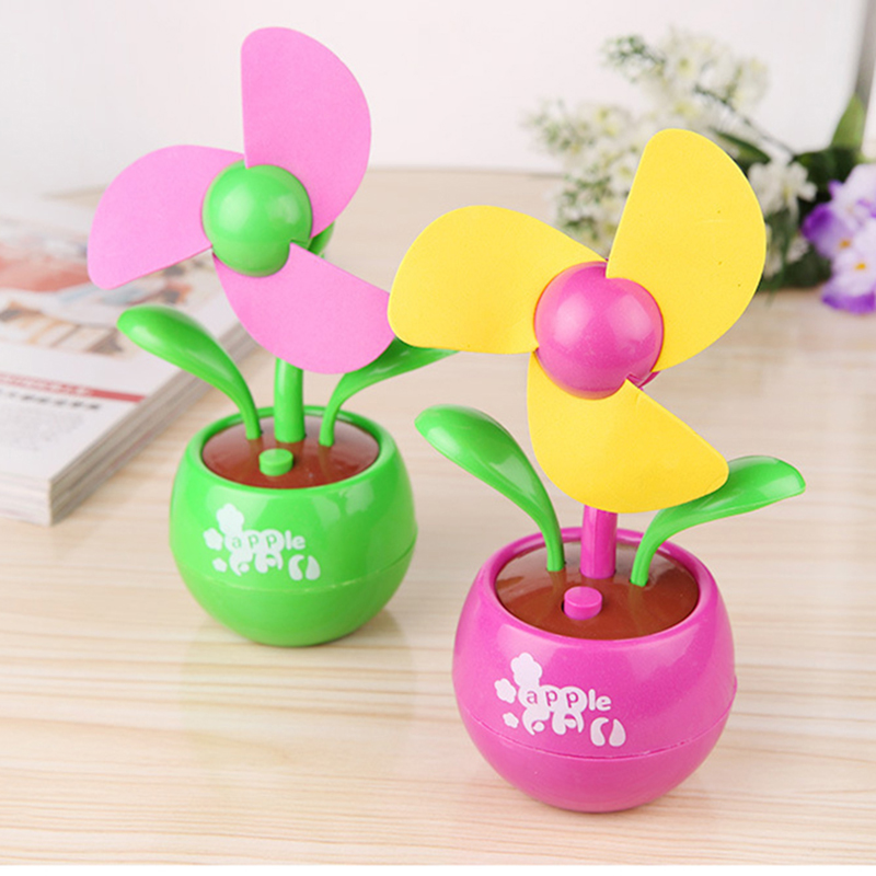 2016 Summer Office Portable Handheld Mini Usb Fan 3 leaves Sun Flower Fans Electric Cooler Air Condition