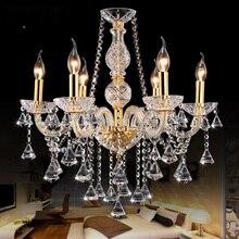 Gold crystal chandelier lighting for indoor home decoration Bedroom Kitchen Wedding Lights lustre cristal Modern crystal lamp