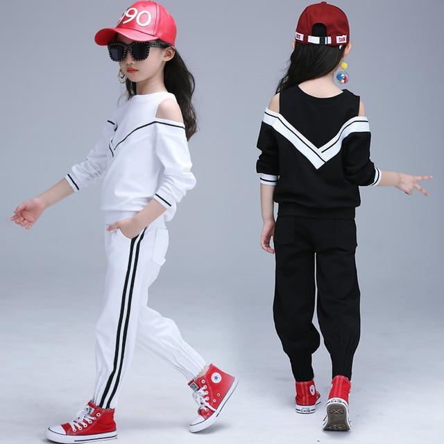 Niños Conjuntos de ropa para Niñas ropa deportiva doble Sets estilo Niñas deportes  Trajes adolescentes pista 309b2fd8f14e9