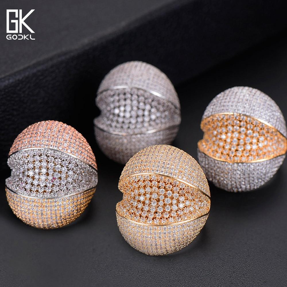 GODKI Luxury Shark Head African Statement Ring For Women Wedding Crystal Zircon Dubai Bridal Finger Ring Jewelry Addiction 2018