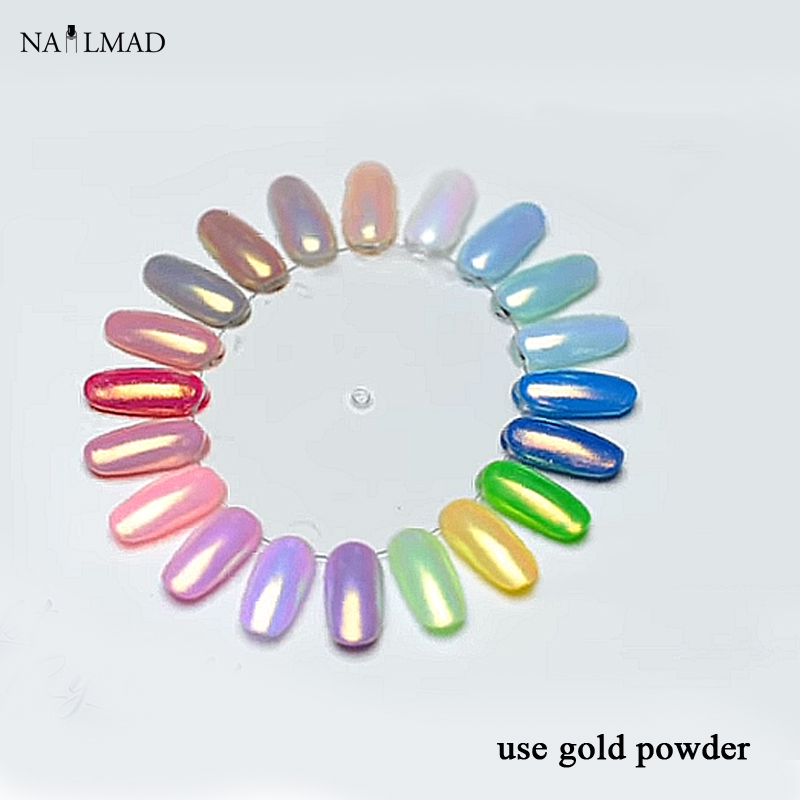 1box 3ml Mermaid Nail Powder Gradient Shimmer Sirena Powder Laser Nail Glitter Dust Mermaid Glitter Powders Nail Art Decoration